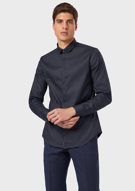 Hemd aus Baumwolle mit Stretch