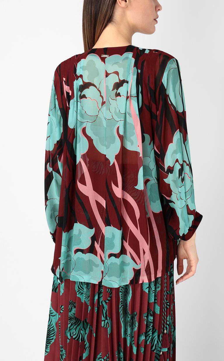 """JUST CAVALLI """"Hidden-Flowers"""" print shirt Long sleeve shirt Woman a"""