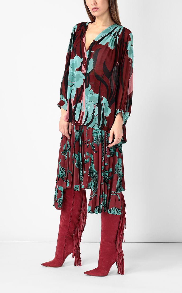 """JUST CAVALLI """"Hidden-Flowers"""" print shirt Long sleeve shirt Woman d"""