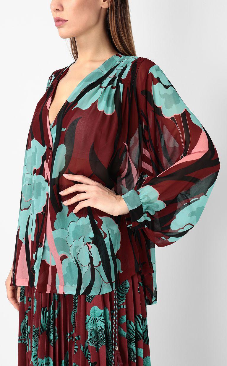 """JUST CAVALLI """"Hidden-Flowers"""" print shirt Long sleeve shirt Woman e"""