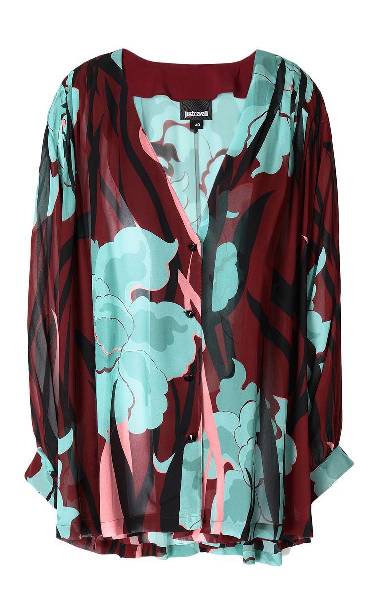 """JUST CAVALLI """"Hidden-Flowers"""" print shirt Long sleeve shirt Woman f"""