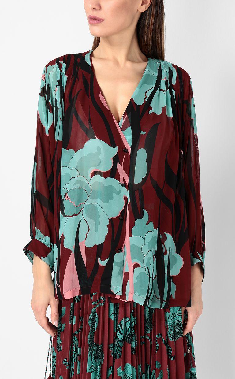 """JUST CAVALLI """"Hidden-Flowers"""" print shirt Long sleeve shirt Woman r"""