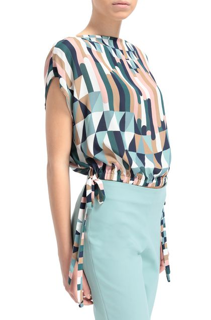 M MISSONI Top Dark blue Woman - Front