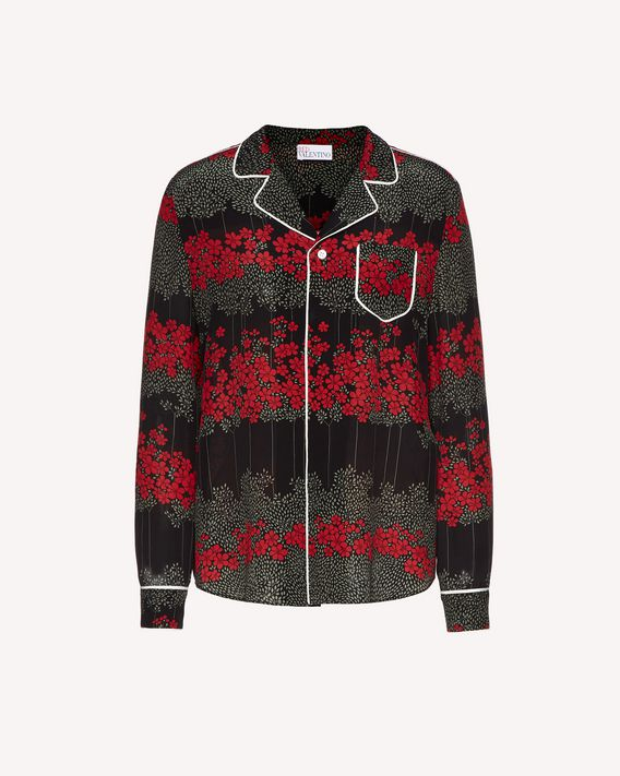 REDValentino Silk shirt with Dreaming Peony print