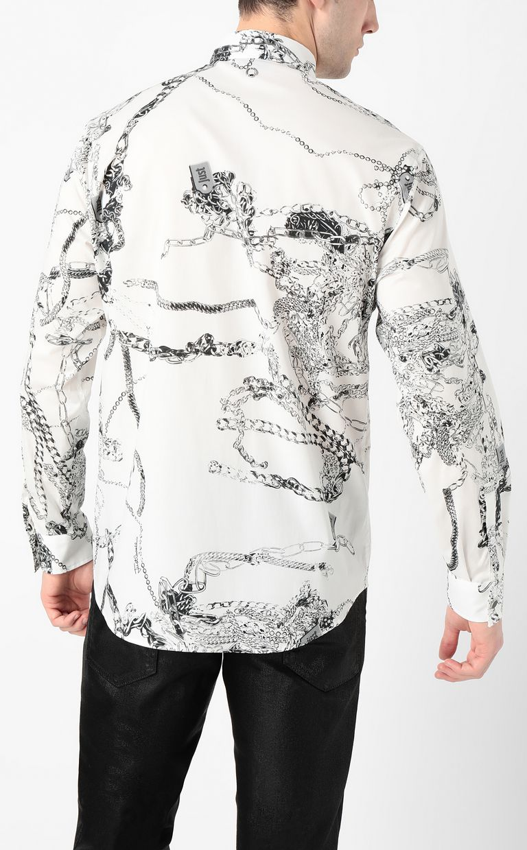 JUST CAVALLI Chain-print shirt Long sleeve shirt Man a