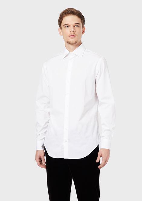 Regular-fit shirt in cotton twill