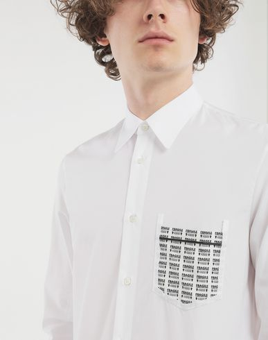 SHIRTS Fragile print detail shirt White