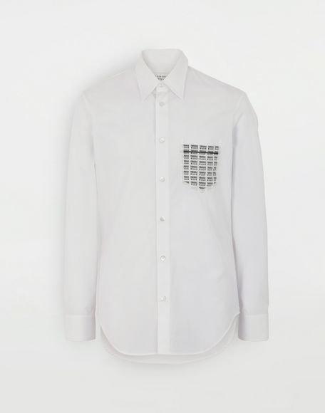 MAISON MARGIELA Fragile print detail shirt Long sleeve shirt Man f