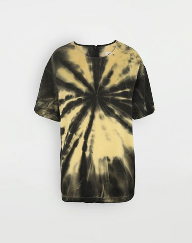 TOPS Tie-dye T-shirt Yellow