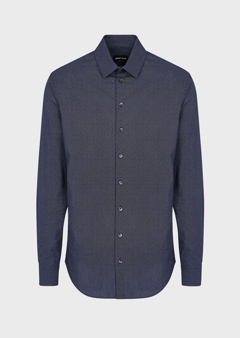 Regular-fit shirt with an exclusive print