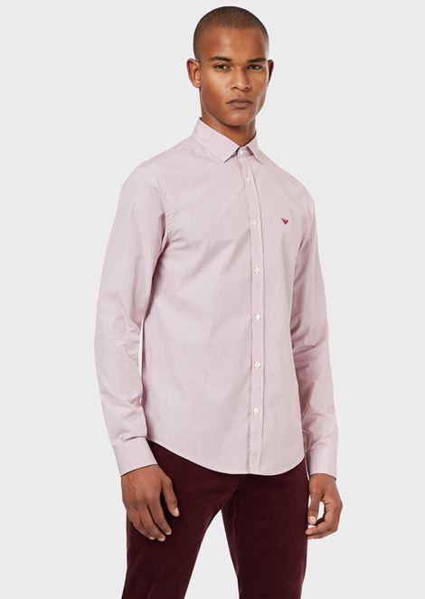 Cotton poplin shirt