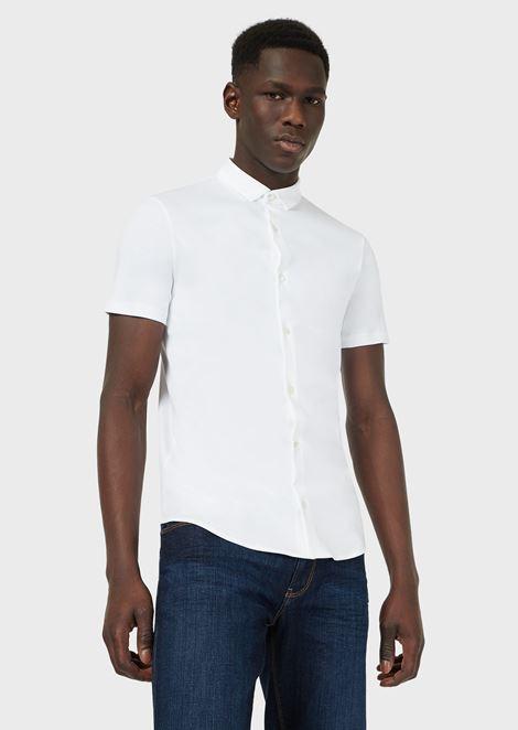Chemise à manches courtes en jersey de coton