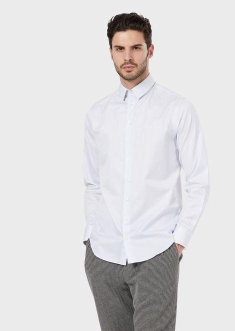 Regular-fit shirt in seersucker fabric