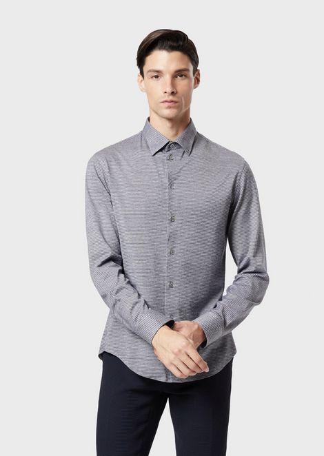 现代版型平纹针织衬衫