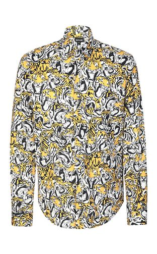 JUST CAVALLI Long sleeve shirt Man Chain-print shirt f