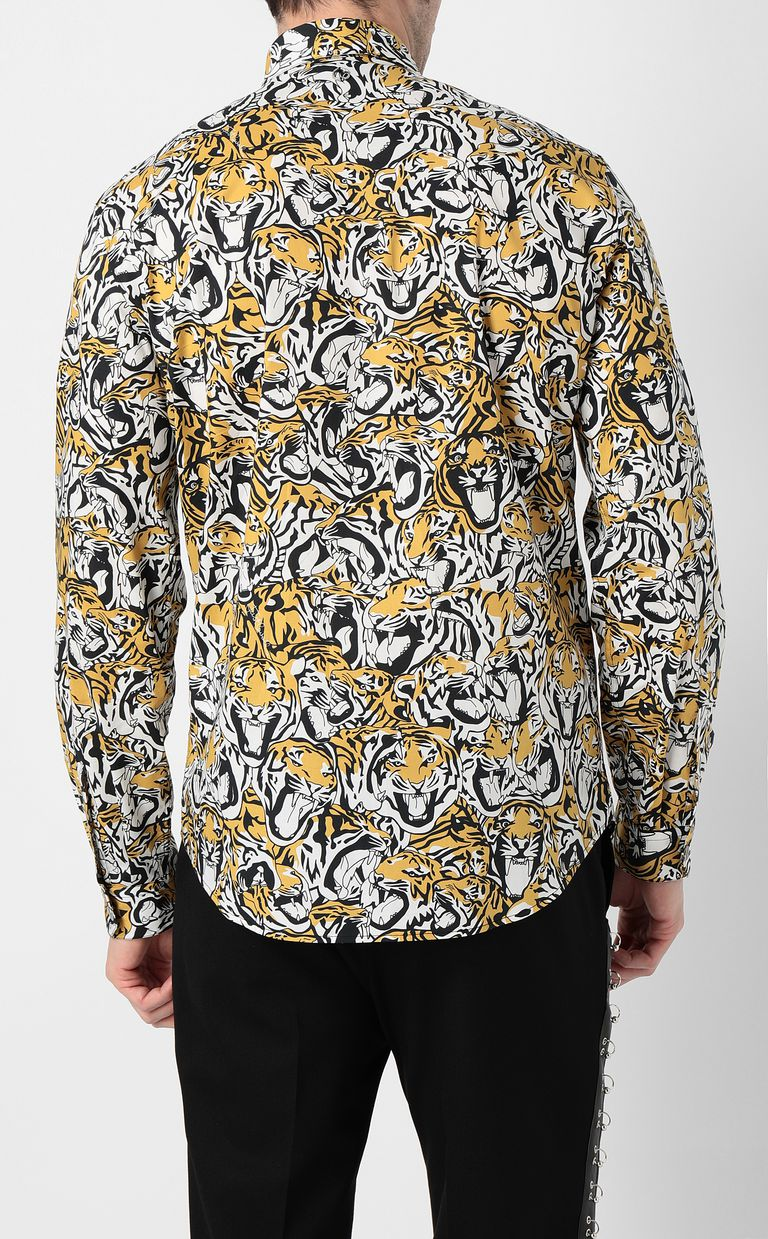 JUST CAVALLI Shirt with tigers print Long sleeve shirt Man a