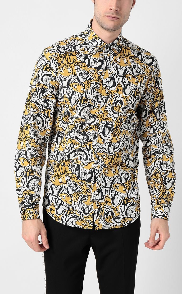 JUST CAVALLI Shirt with tigers print Long sleeve shirt Man r