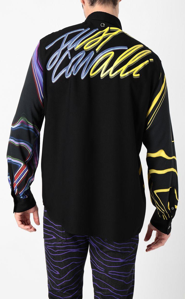 JUST CAVALLI Signature-Neon print shirt Long sleeve shirt Man a