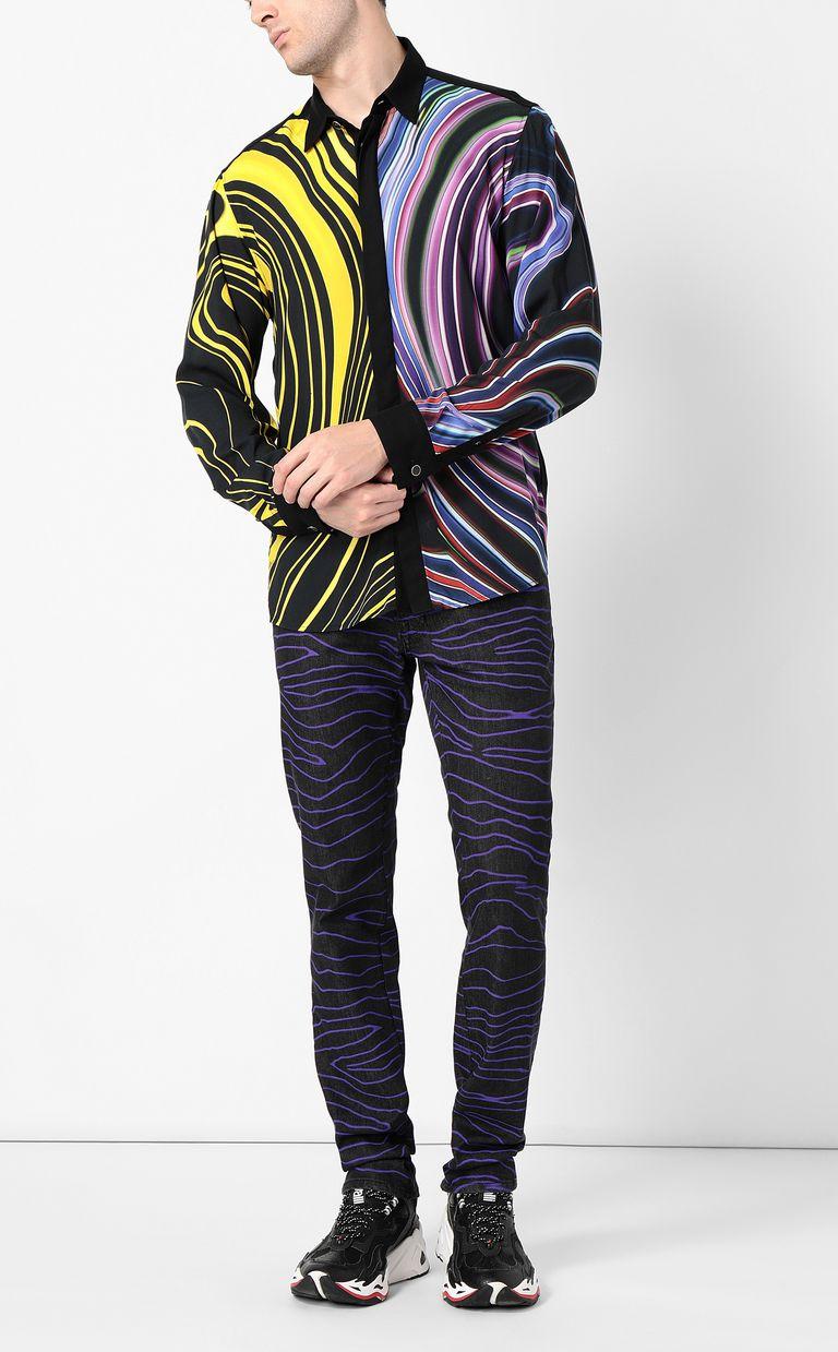 JUST CAVALLI Signature-Neon print shirt Long sleeve shirt Man d