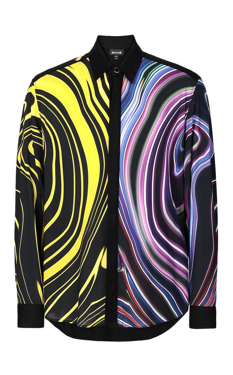 JUST CAVALLI Signature-Neon print shirt Long sleeve shirt Man f