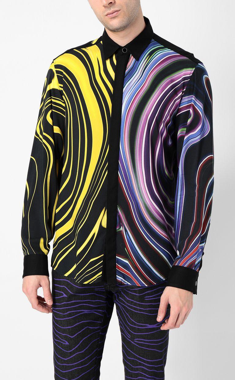 JUST CAVALLI Signature-Neon print shirt Long sleeve shirt Man r