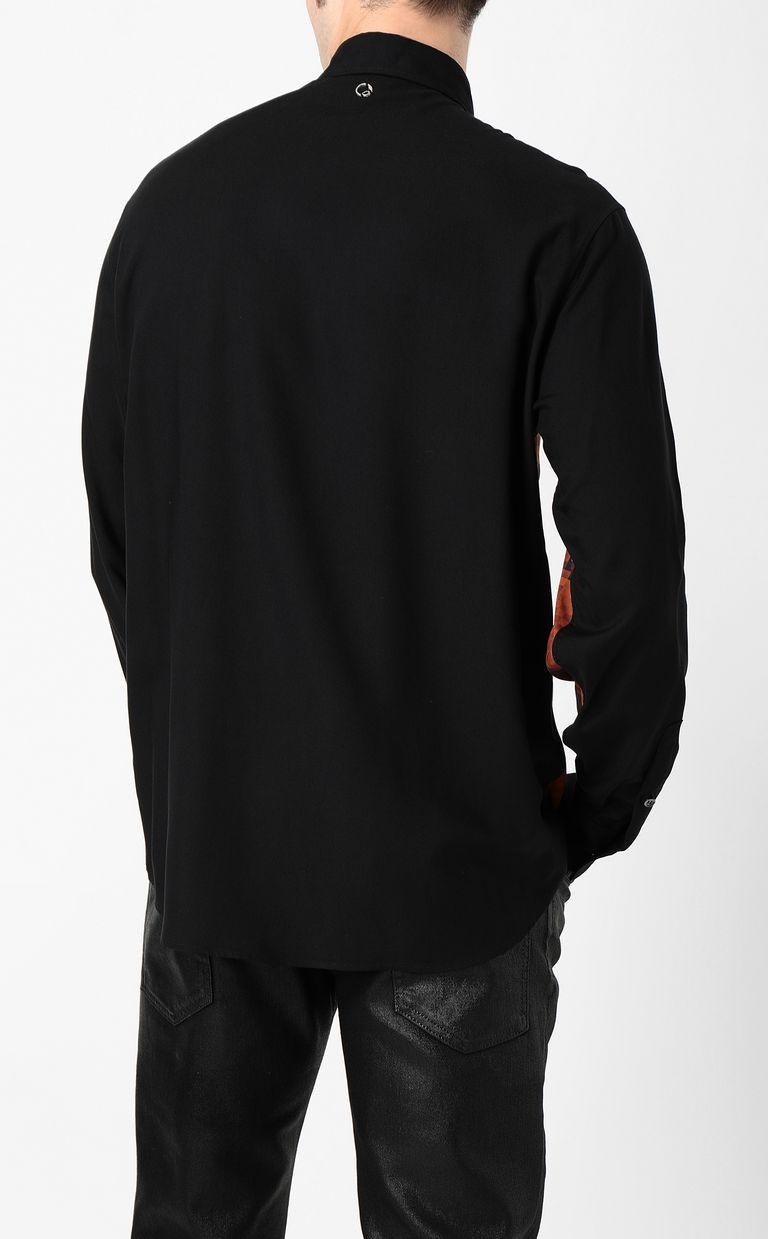 JUST CAVALLI Python-print blouse Long sleeve shirt Man a