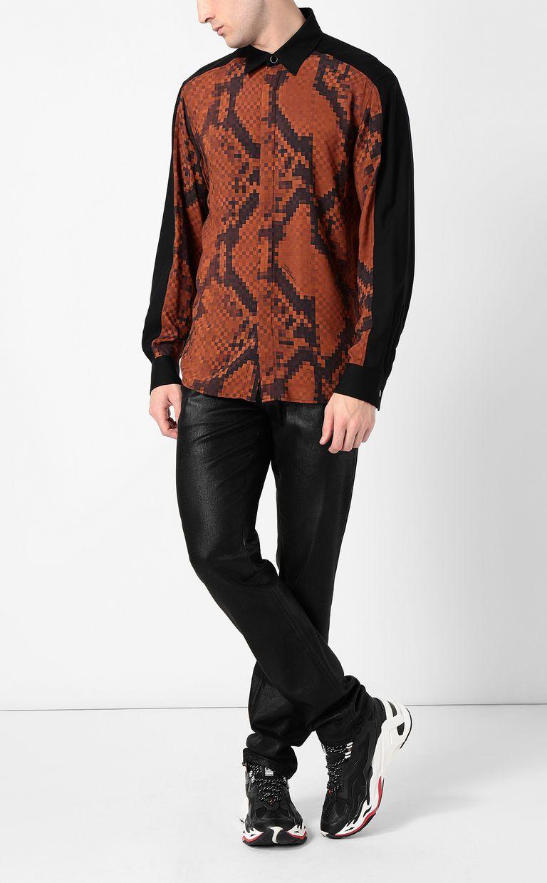JUST CAVALLI Python-print blouse Long sleeve shirt Man d