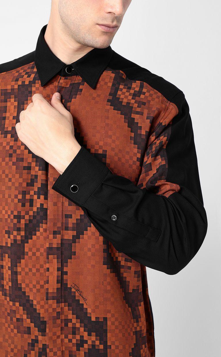 JUST CAVALLI Python-print blouse Long sleeve shirt Man e