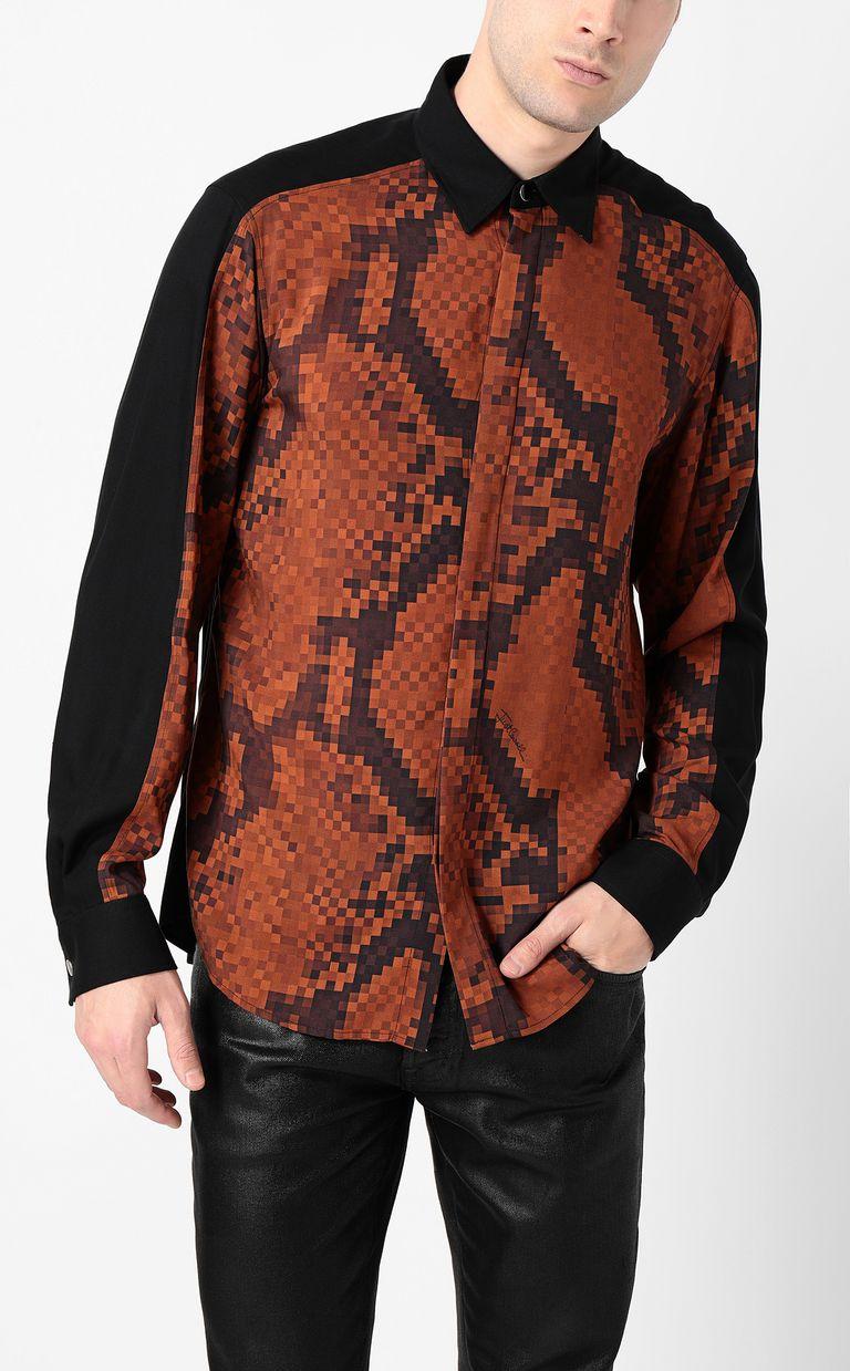 JUST CAVALLI Python-print blouse Long sleeve shirt Man r