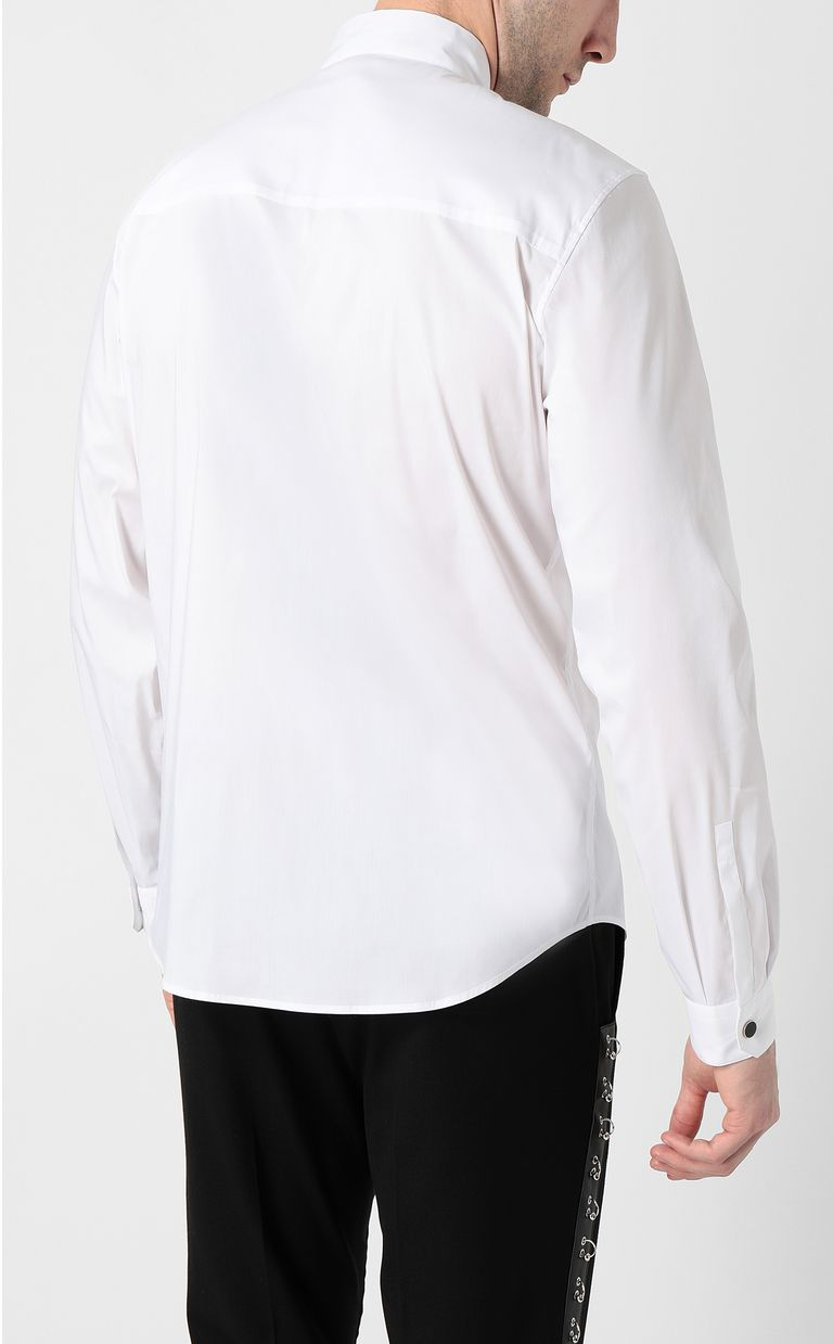 JUST CAVALLI White shirt with snake detail Long sleeve shirt Man a
