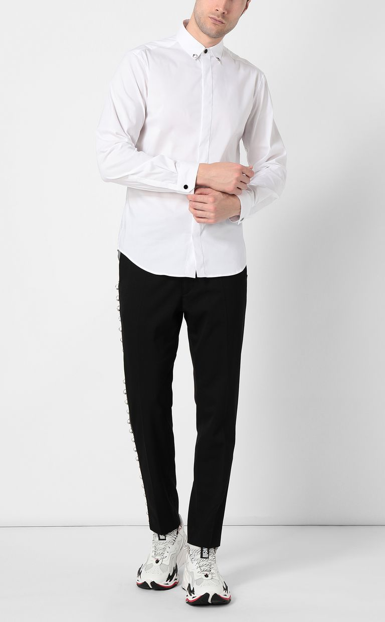 JUST CAVALLI White shirt with snake detail Long sleeve shirt Man d