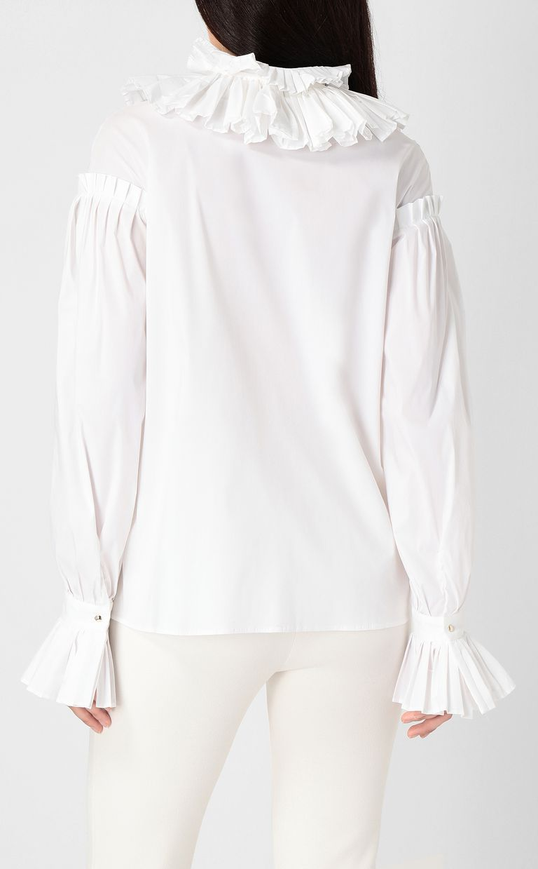 JUST CAVALLI Pleated shirt Long sleeve shirt Woman a