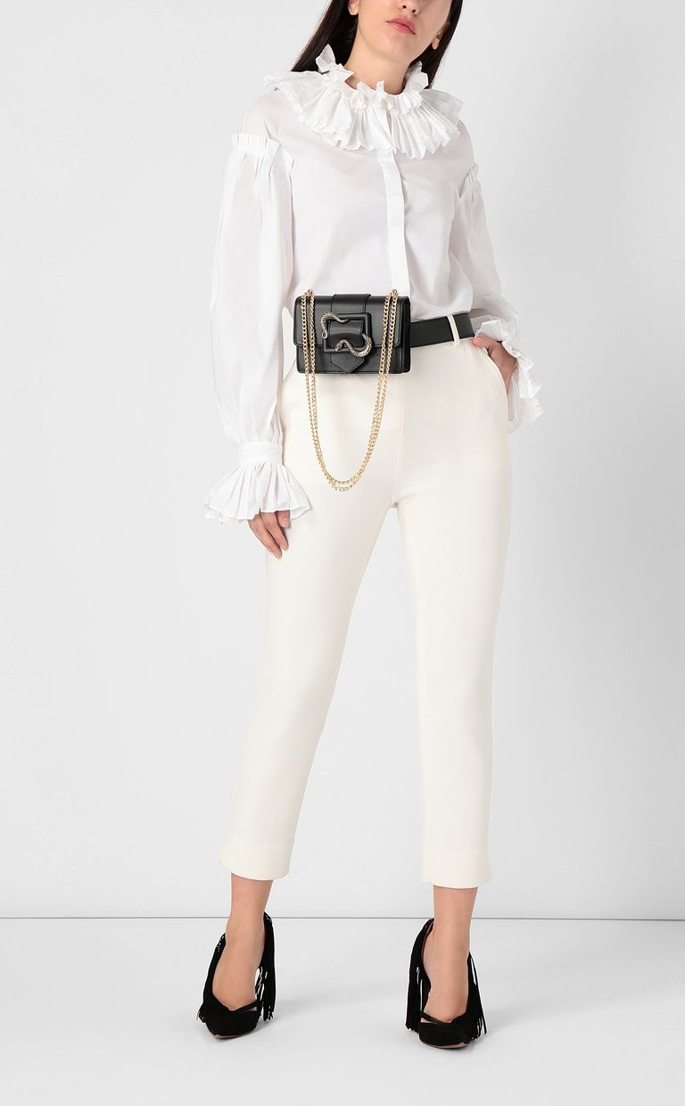 JUST CAVALLI Pleated shirt Long sleeve shirt Woman d