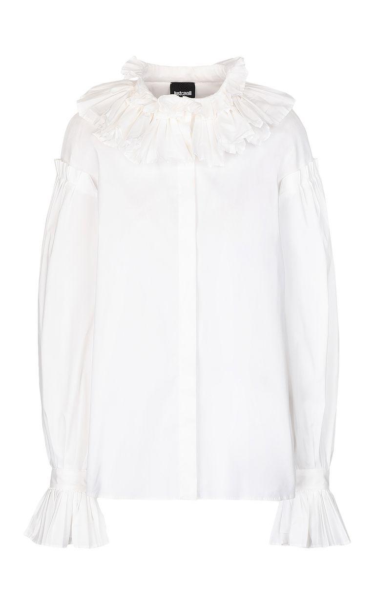 JUST CAVALLI Pleated shirt Long sleeve shirt Woman f