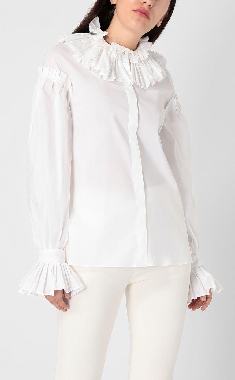 JUST CAVALLI Pleated shirt Long sleeve shirt Woman r