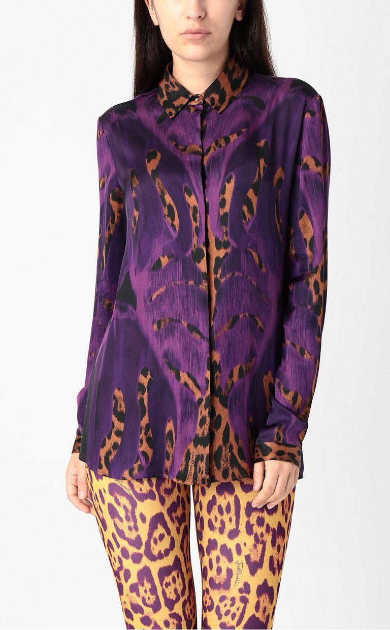 "JUST CAVALLI ""Jungle-Deco'""-print shirt Long sleeve shirt Woman r"
