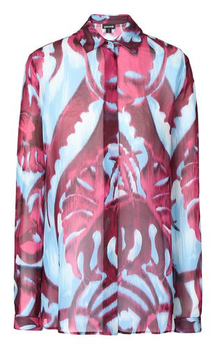 "JUST CAVALLI Long sleeve shirt Woman Shirt with ""Bull Flame"" print f"