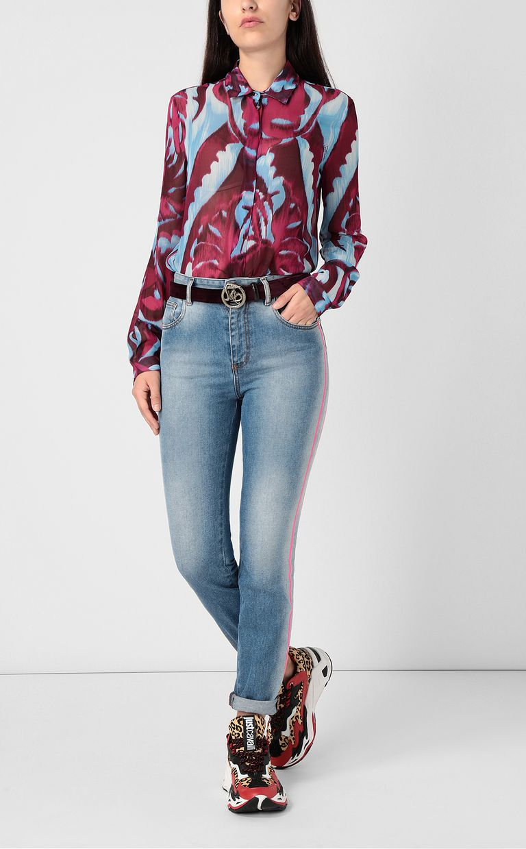 "JUST CAVALLI ""Jungle-Deco'""-print shirt Long sleeve shirt Woman d"