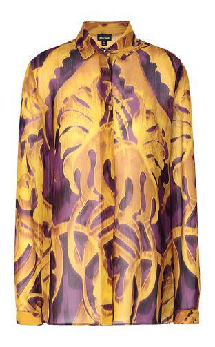 "JUST CAVALLI Dress Woman Full-length ""Jungle-Deco'"" dress f"