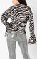 JUST CAVALLI Shirt with zebra-stripe print Blouse Woman a