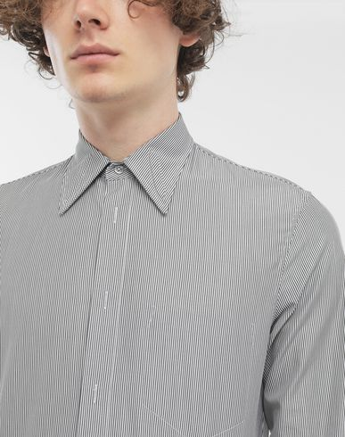 SHIRTS Outline pinstripe shirt Grey