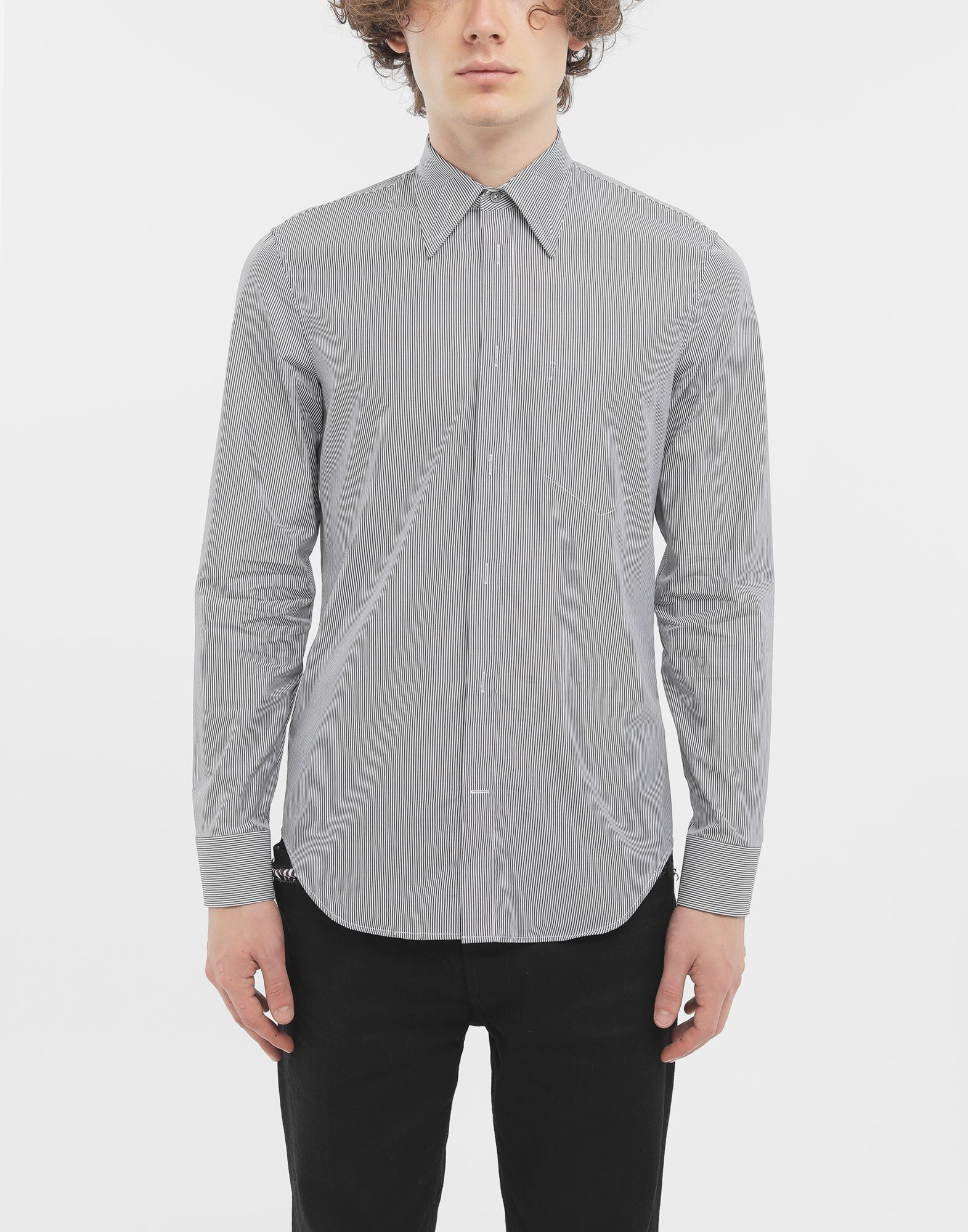 MAISON MARGIELA Outline pinstripe shirt Long sleeve shirt Man r