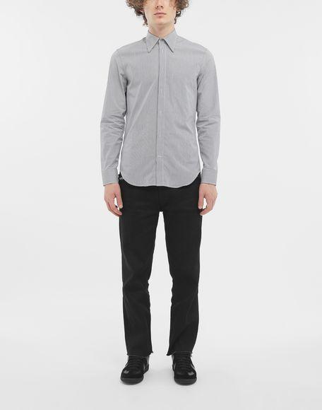 MAISON MARGIELA Camicia profilata con motivo a righe sottili Camicia maniche lunghe Uomo d