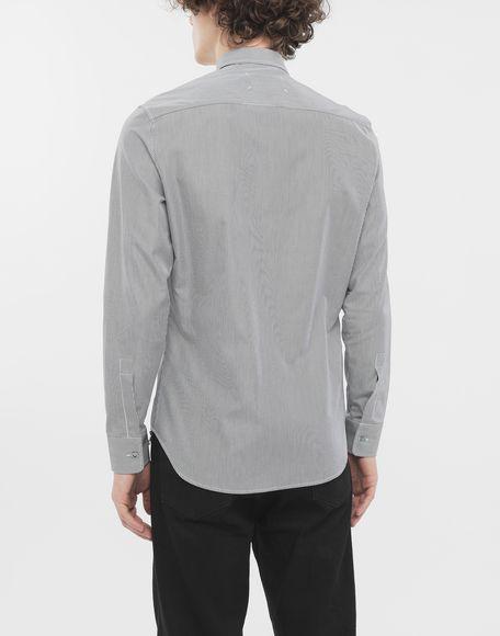 MAISON MARGIELA Camicia profilata con motivo a righe sottili Camicia maniche lunghe Uomo e