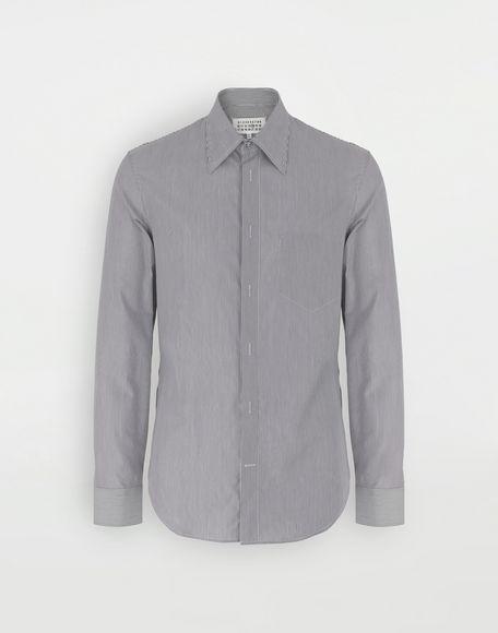 MAISON MARGIELA Camicia profilata con motivo a righe sottili Camicia maniche lunghe Uomo f