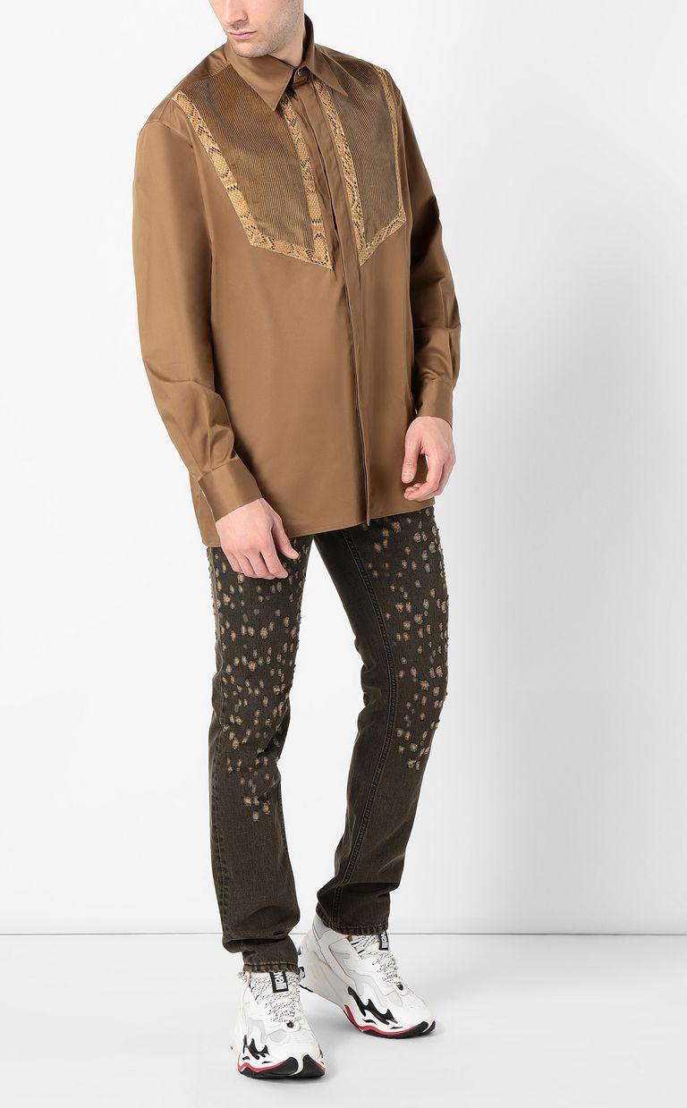 JUST CAVALLI Shirt with python detailing Long sleeve shirt Man d