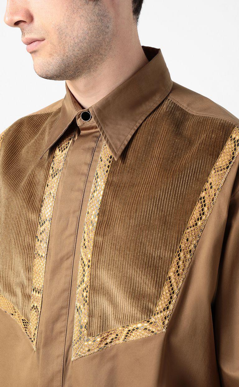 JUST CAVALLI Shirt with python detailing Long sleeve shirt Man e