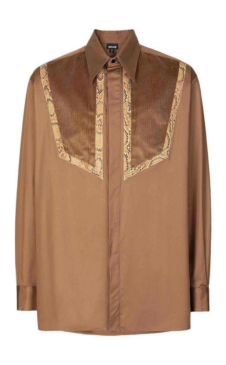 JUST CAVALLI Shirt with python detailing Long sleeve shirt Man f