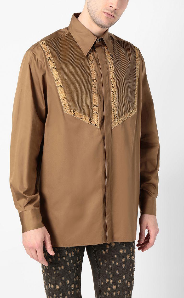 JUST CAVALLI Shirt with python detailing Long sleeve shirt Man r