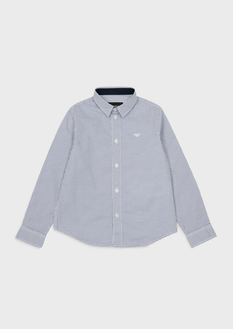 Stretch micro-patterned shirt
